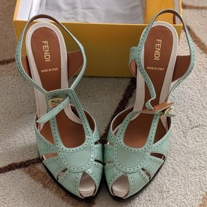 NWB! Fendi  Chameleon Sandals MSRP $1300
